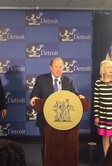 Detroit Mayor Mike Duggan announces proposal that would require all Detroit landlords bring their buildings up to code.