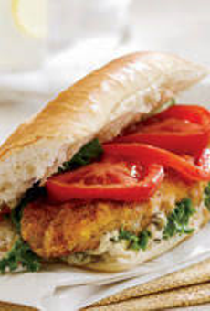 Gabriel Hall's catfish po' boy.