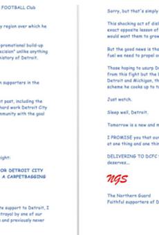 Detroit City FC superfans pen open letter to Dan Gilbert (in comic sans)
