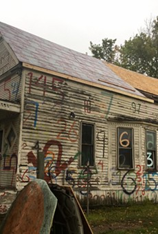 "The Heidelberg Project's ""Numbers House"" is undergoing renovation."