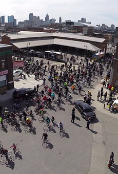 Slow Roll cyclists take over Detroit's Eastern Market