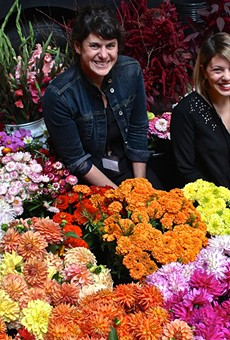 Lisa Waud (left) and Haley Lertola during Detroit Flower Week.