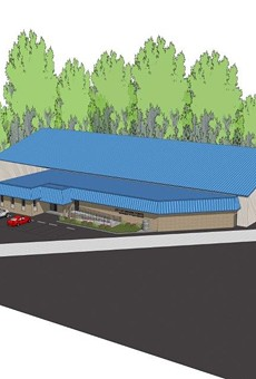 Rendering of the proposed warehouse.