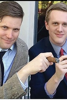 White nationalist Richard Spencer and alt-right attorney Kyle Bristow (right).