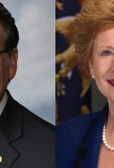 Michigan's Democrat Senators, Gary Peters and Debbie Stabenow.