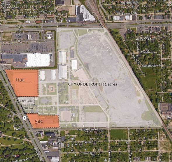 The City of Detroit is to buy the bulk of the old state fairgrounds at a rate of $49,300 per acre, while Magic Plus, LLC is to pay $29,500 per acre for its portion. - CITY OF DETROIT