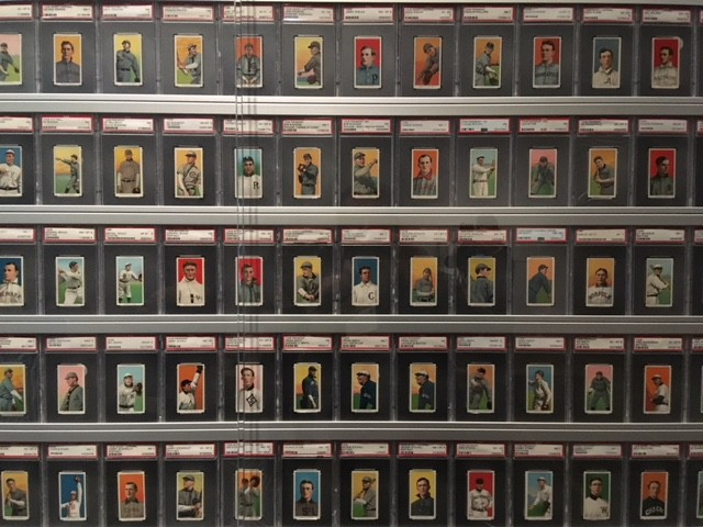 E. Powell Miller's T206 baseball card collection — ranked the third-best in the world — on display at the Detroit Institute of Arts. - LEE DEVITO
