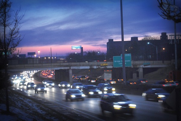 The Michigan Department of Transportation's proposed widening of I-94 could include the removal of many pedestrian overpasses between Midtown and New Center. Originally, it had even called for the removal of the Trumbull Avenue  bridge, seen here. - PHOTO COURTESY RYAN FELTON