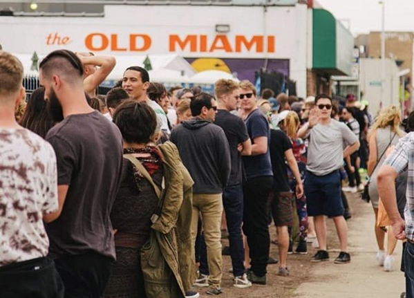 The line outside the Old Miami on Memorial Day. - INSTAGRAM, @STROXLER