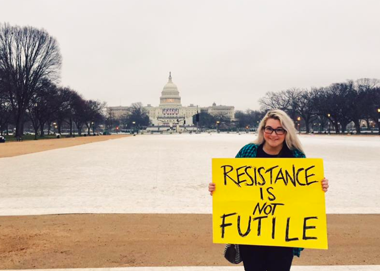 Stephanie Kenner the day of last year's Women's March on Washington. - COURTESY PHOTO