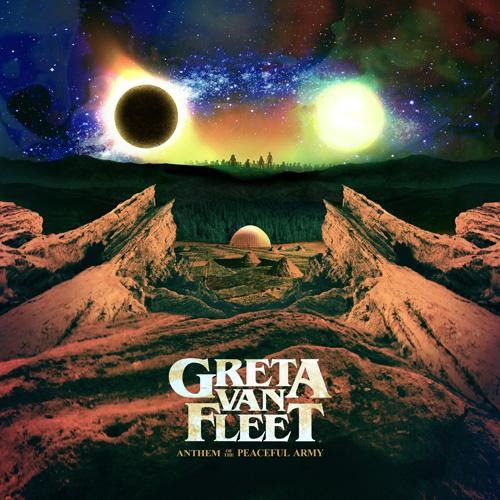 "They even left a perfect spot for your bong between the sun and the moon. How sweet! - GRETA VAN FLEET ""ANTHEM OF THE PEACEFUL ARMY"