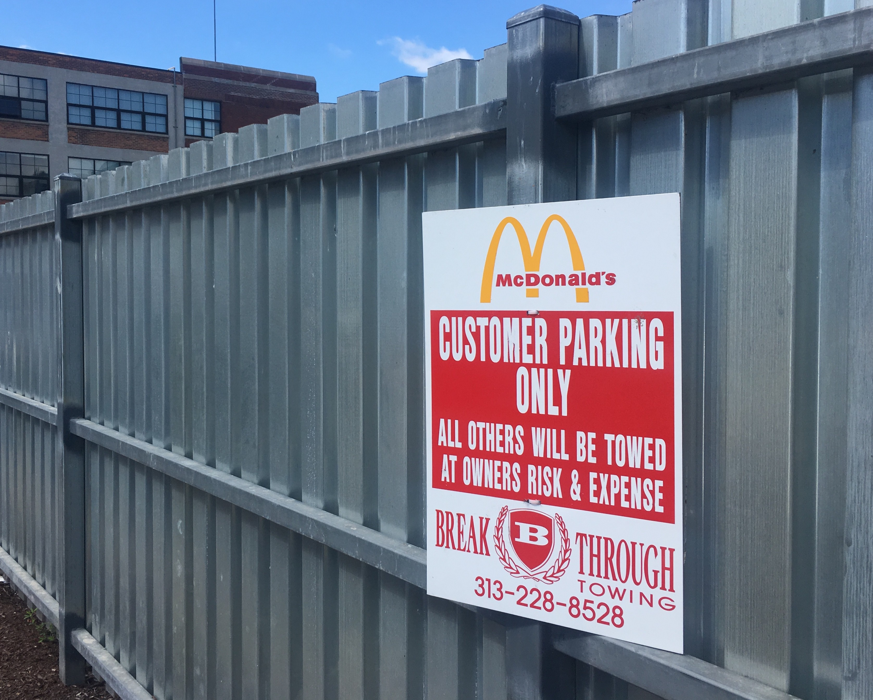 click to enlarge signage indicates no time limit for mcdonalds customers who use the lot violet ikonomova