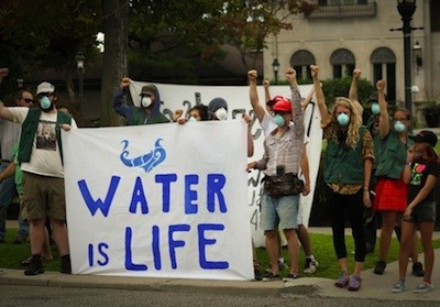 Water rights advocates protest shutoffs in Detroit. - MT FILE PHOTO, VALERIE JEAN