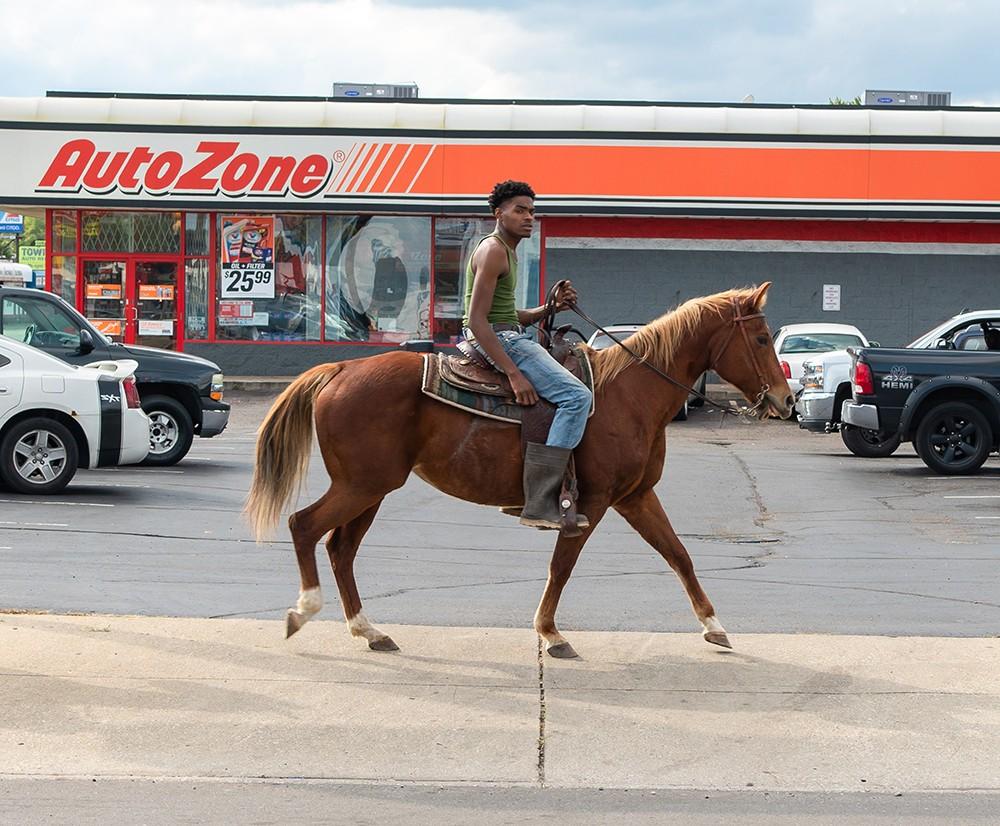 Rider Equine Vinyl Decal Sticker A PEACE LOVE HORSE Running