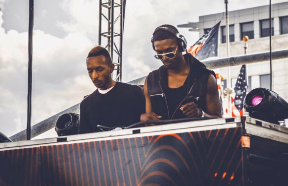Damarii Saunderson, right, plays Movement Electronic Music Festival with his brother in 2016. - FACEBOOK, DAMARII SAUNDERSON