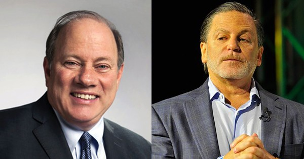 Detroit Mayor Mike Duggan once accidentally told reporters that businessman Dan Gilbert was his boss. - COURTESY PHOTOS