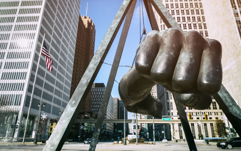 The Fist represents Joe Louis' punch against Jim Crow laws as well as his opponents, and has become synonymous with black Detroiters' fight for racial justice. And the Numbers made it all possible.