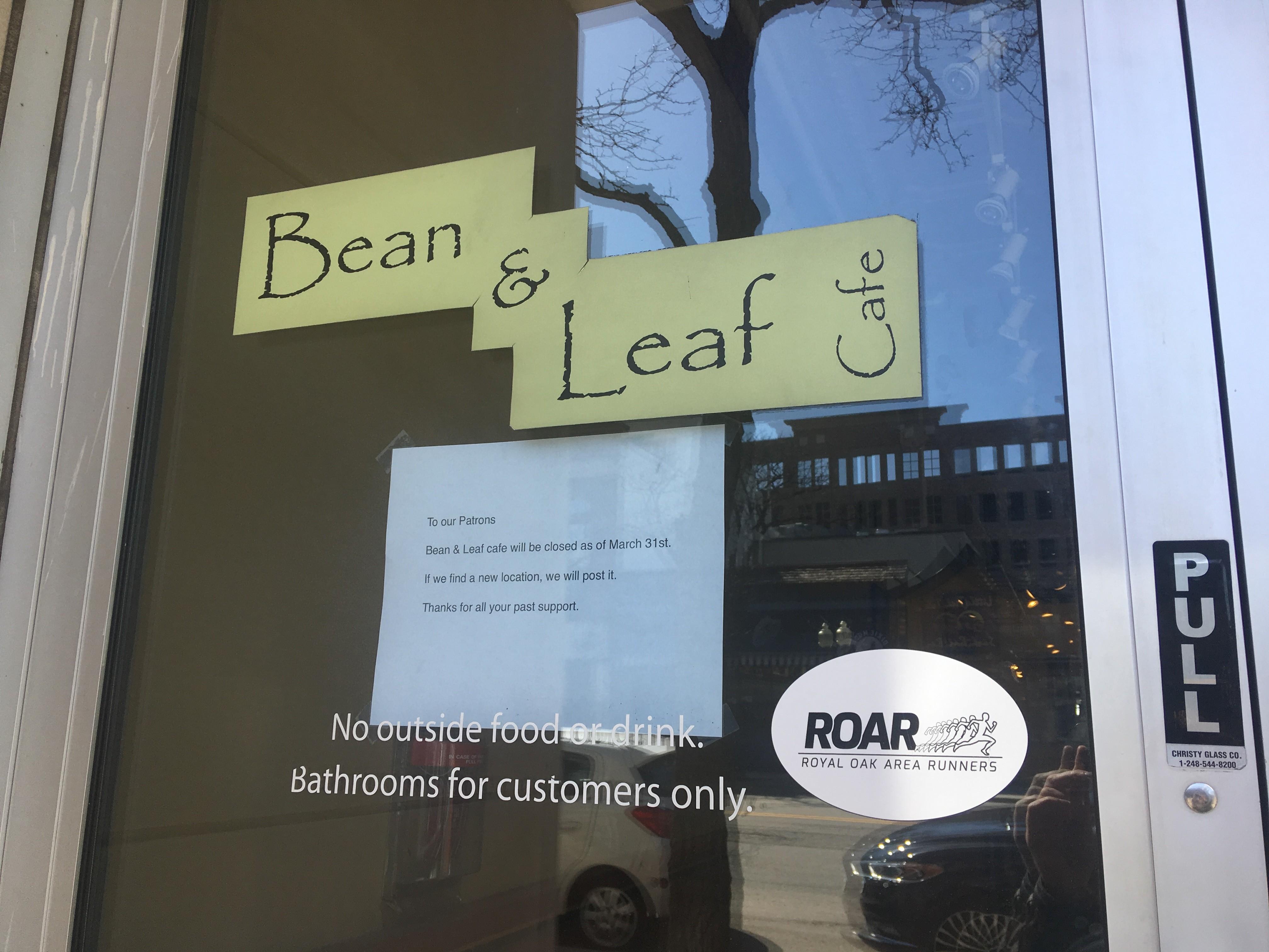 3b81ea5bfbeb Royal Oak s Bean   Leaf Cafe abruptly closed