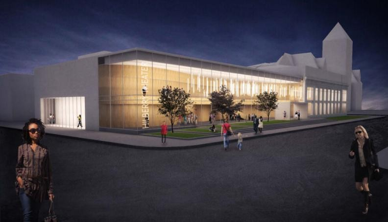Rendering of the new Hilberry Gateway Performance Complex. - WAYNE STATE UNIVERSITY