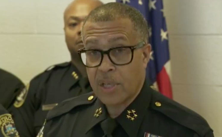 Chief James Craig addresses the media. - DPD FACEBOOK PAGE