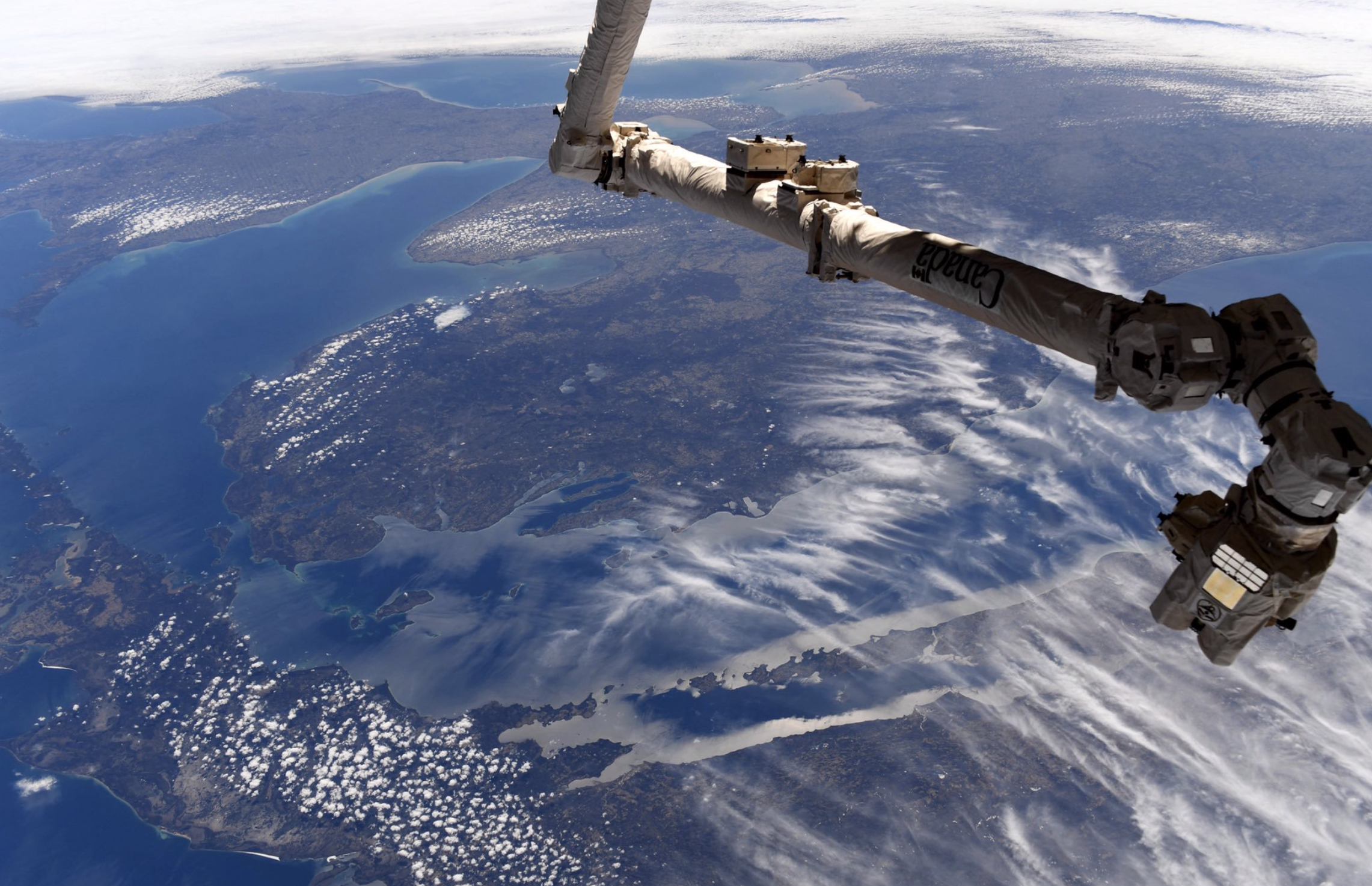 Here's what Michigan looks like from the International Space Station