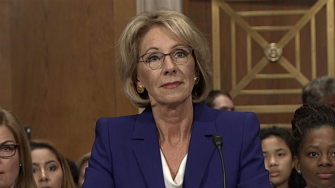 Betsy Devos Trumps Education Pick Has >> Betsy Devos Said Teachers Should Protest On Adult Time News Hits