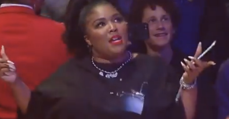 Detroit's Lizzo gets cheeky at LA Lakers game — and people feel some type of way