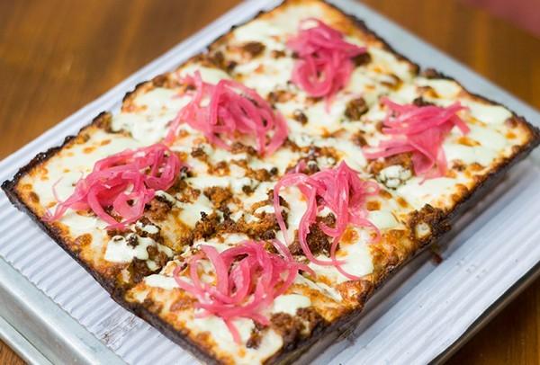 Chorizo pizza. - TOM PERKINS
