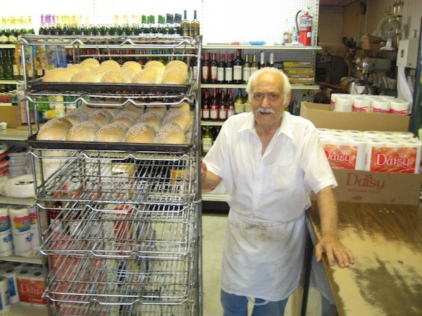 Vince Cucci baking morning bread on his 86th birthday a few years ago.