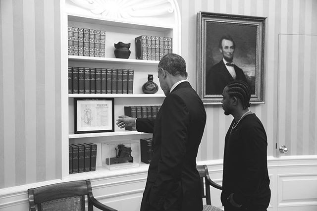 OBAMA: YOU THE REALEST. (PHOTO VIA INSTAGRAM: KENDRICK LAMAR)