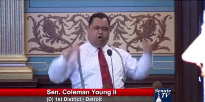 SCREENSHOT FROM COLEMAN YOUNG II VIDEO ON FACEBOOK