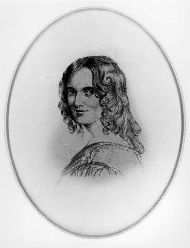 SKETCH OF SARAH FULLER FLOWER ADAMS, AFTER AN 1834 SKETCH BY MARGARET GILLIES. FROM WIKIPEDIA.