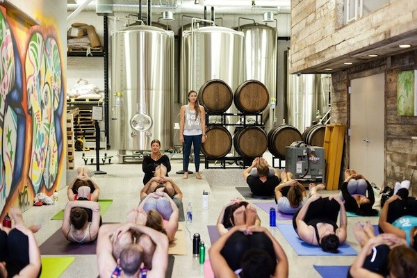 PHOTO BY JAMIE LEFKOWITZ, COURTESY THE BEER YOGIS