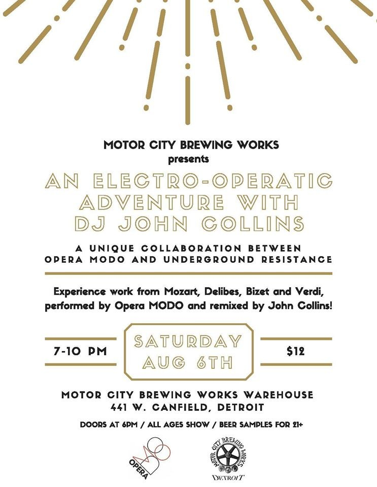 Motor City Brewing Works to host Electro-Operatic Adventure