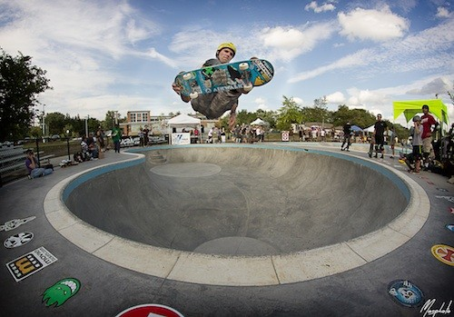 Andy MacDonald catches some air at Ann Arbor Skatepark. - PHOTO BY MORGAN ANDREW SOMERS COURTESY UMS