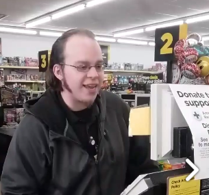 lansing cashier goes viral after customer tapes him singing the