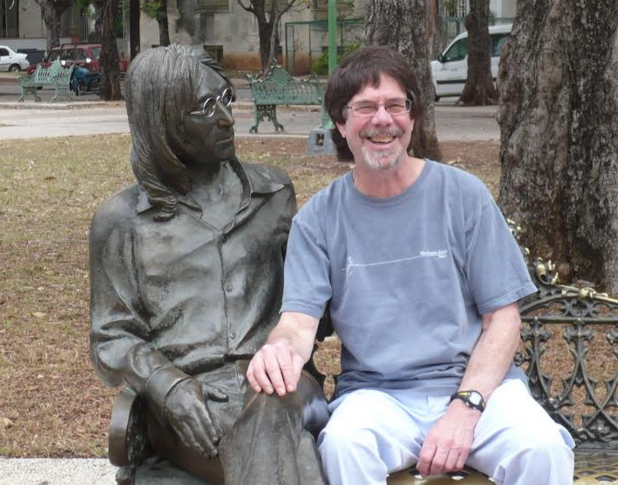 Peter Werbe poses in Havana at John Lennon Park. - PHOTO COURTESY PETER WERBE