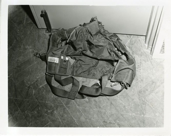 The mailbag, once stuffed with $500,000, would later be used as evidence in McNally's trial. - NATIONAL ARCHIVES AT KANSAS CITY