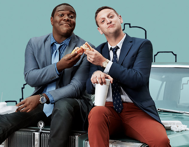 "Sam Richardson and Tim Robinson, the stars of ""Detroiters."" - CC.COM"