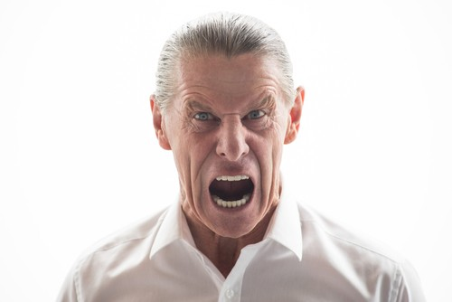 Typical angry man. Shall we rush him to an encounter group? - COURTESY SHUTTERSTOCK