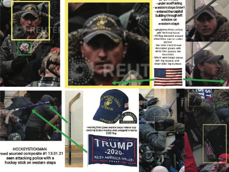 The FBI used photos posted to social media to identify Michael Joseph Foy of Wixom. - FBI