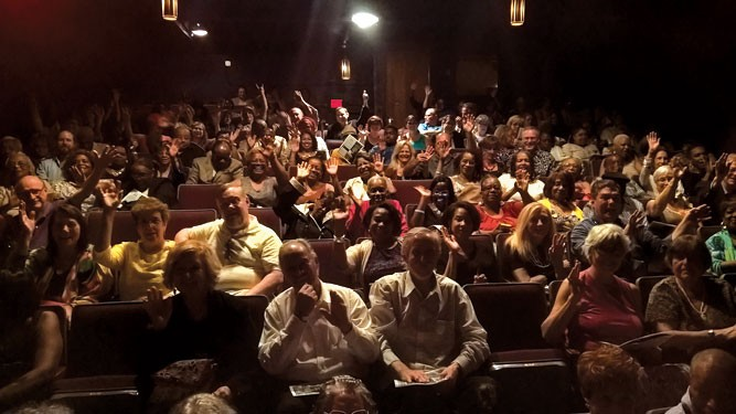 "The house is almost filled up at ""the Rep."" - COURTESY PHOTO"