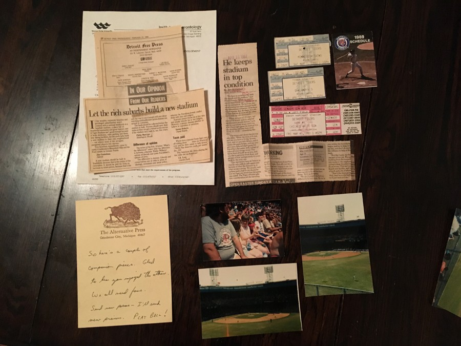 Jim Gustafson's Tigers ephemera. - COURTESY PHOTO