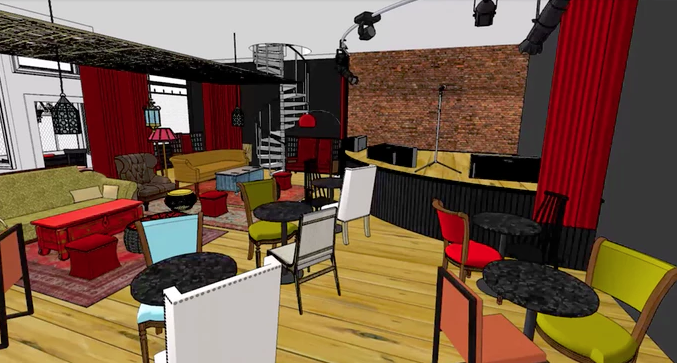 Rendering of new Vernor Café. - KICKSTARTER CAMPAIGN