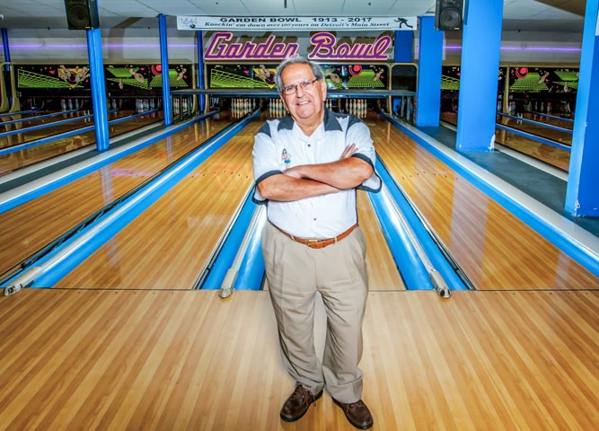 Joe Zainea, proprietor of the Majestic Theatre Complex, at the Garden Bowl. - MARC NADER