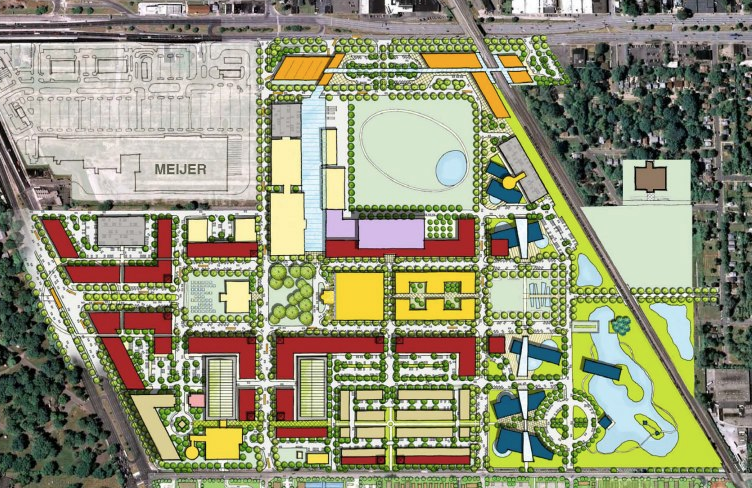 Proposal map from the Michigan State Fairgrounds Development Coalition - COURTESY MSFDC