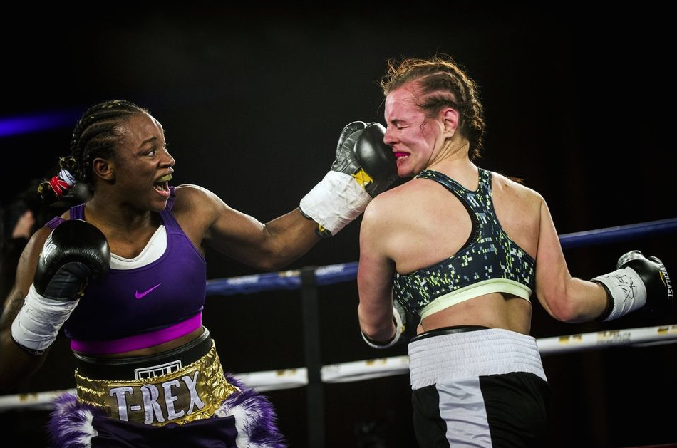Shields wins WBC and IBF female 168lb world titles