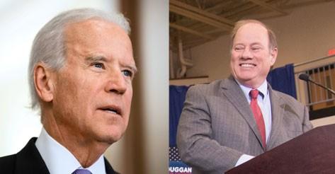 Former Vice President Joe Biden and Mayor Mike Duggan. - SHUTTERSTOCK / DUGGAN CAMPAIGN