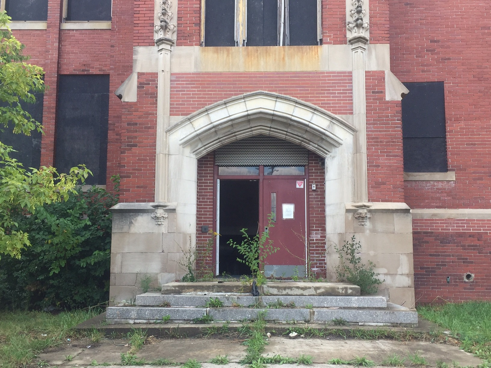 Click To Enlarge A Front Door Removed At The Vacant Sampson Elementary On  Detroitu0027s West Side. Detroit Officials