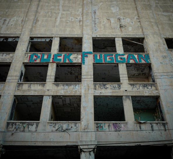 A graffiti piece protesting Detroit Mayor Mike Duggan. - INSTAGRAM, @PIECESOFDETROIT